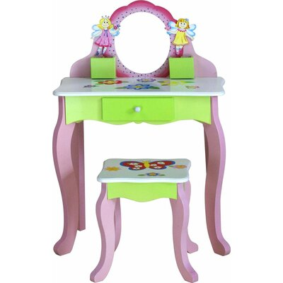 Adorable Kid's 2 Piece Rectangle Table and Chair Set TY10090