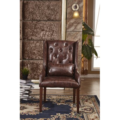 Classic Arm Chair Upholstery: Brown