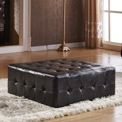 Tufted Cocktail Ottoman Upholstery: Black