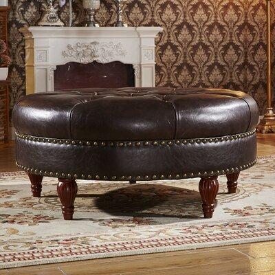 Premium Ottoman Upholstery: Dark Brown
