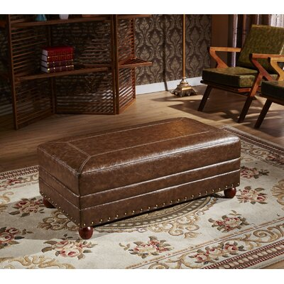 Leopold Royal Stitching Cocktail Ottoman Upholstery: Dark Brown