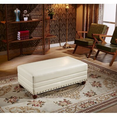 Leopold Royal Stitching Cocktail Ottoman Upholstery: Creamy White