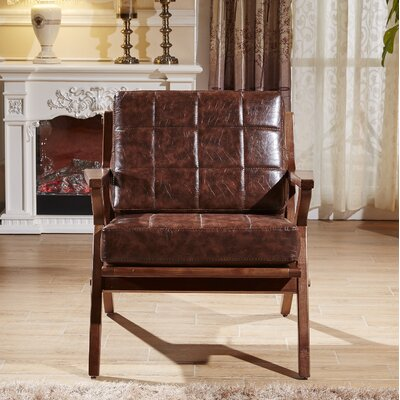 Frideric Signature Designs Armchair Upholstery: Dark Brown