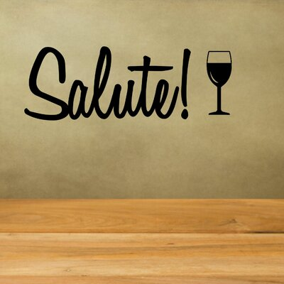 Salute with Wine Glass Wall Decal AV-409