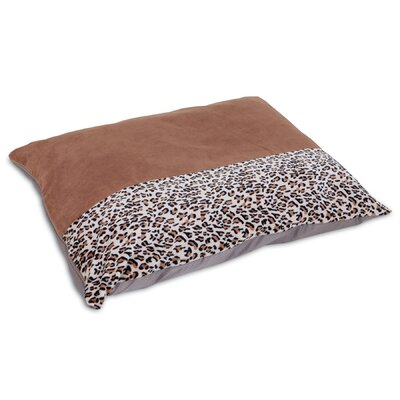 Animal Print Knife Edge Dog Pillow Bed Size: Large (45 L x 36 W)