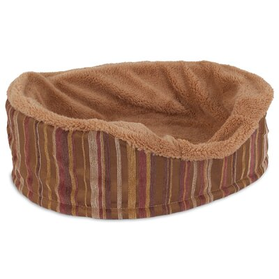Antimicrobial Oval Foam Lounger Dog Bed