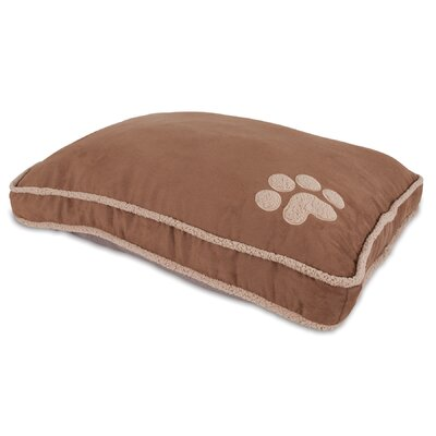 Shearling Gusseted Dog Pillow Bed Size: Small (40 L x 29 W)