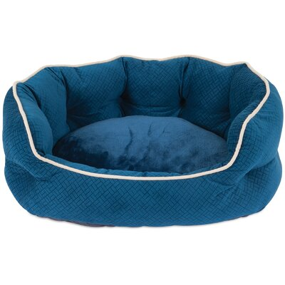 Mattie Bolster Dog Bed Color: Blue