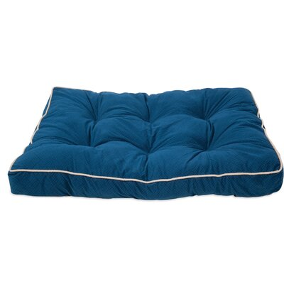 Luxe Gusseted Dog Pillow Color: Blue