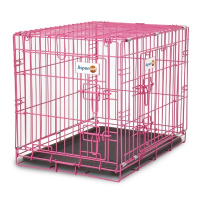Puppy 2 Door Training Retreat Pet Crate Color: Pink