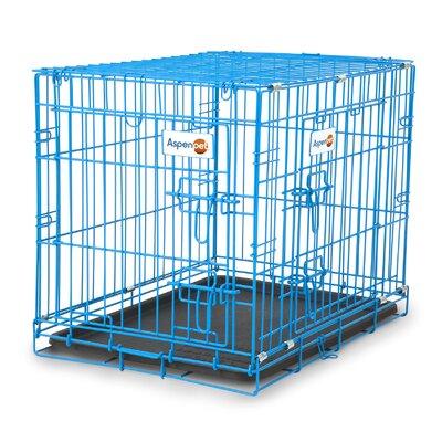 Puppy 2 Door Training Retreat Pet Crate Color: Blue