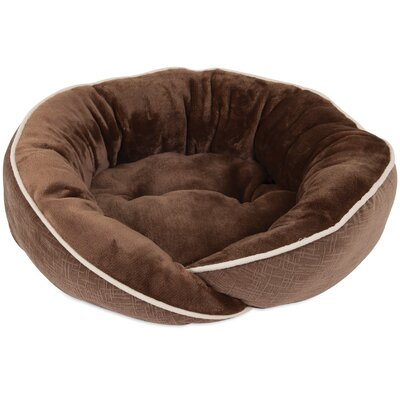 Luxe Wrap Bolster Dog Bed Color: Brown