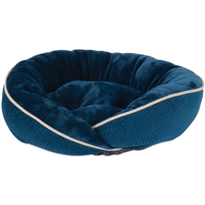 Mattie Wrap Bolster Dog Bed Color: Blue