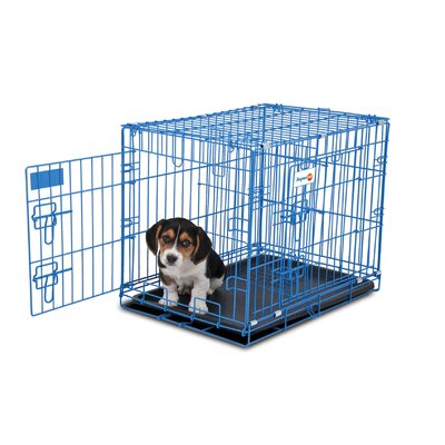 Puppy 2 Door Training Retreat Pet Crate Color: Blue