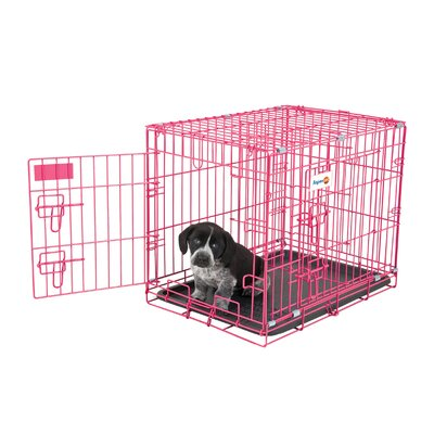 Millicent Puppy 2 Door Training Retreat Pet Crate Color: Pink