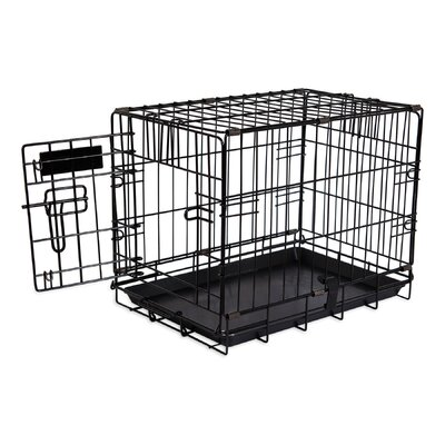 Single-Door Home Training Pet Crate Size: 14 H x 12 W x 19 L