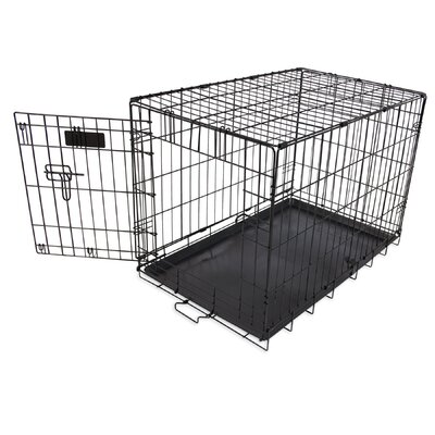 Single-Door Home Training Pet Crate Size: 21 H x 19 W x 30 L