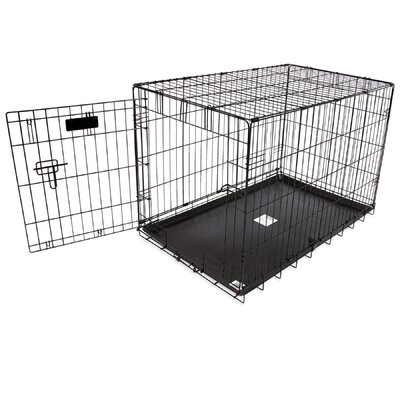 Jeffords Single-Door Home Training Pet Crate Size: 25 H x 23 W x 36 L