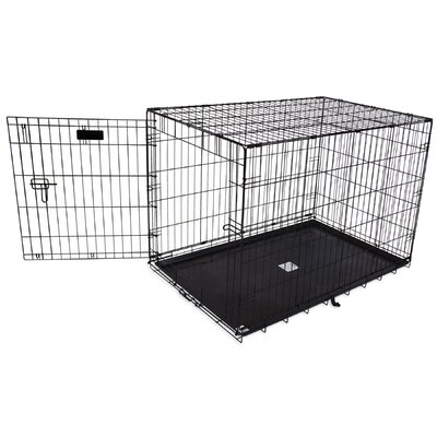 Jeffords Single-Door Home Training Pet Crate Size: 30 H x 28 W x 42 L