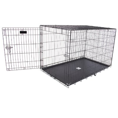Jeffords Single-Door Home Training Pet Crate Size: 32 H x 30 W x 48 L