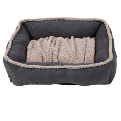 Miko Shearling Lounger Dog Bed Size: 35 L x 27 W