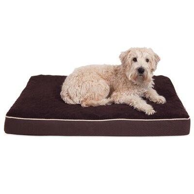 Orthopedic Dog Mat Size: 28 W x 18 D x 3.5 H, Color: Brown