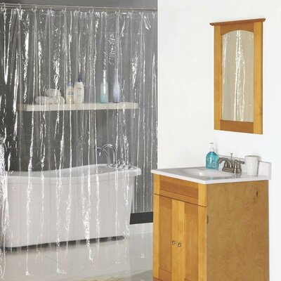 Vinyl Shower Curtain Color: Clear