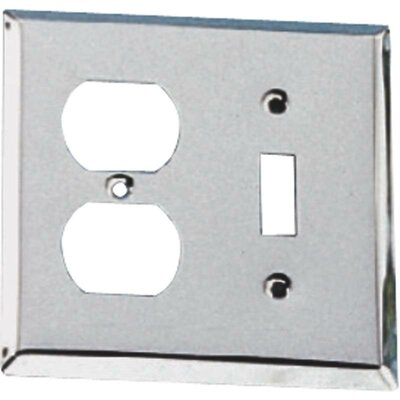 Single Switch Plate with Double Receptacle Finish: Chrome