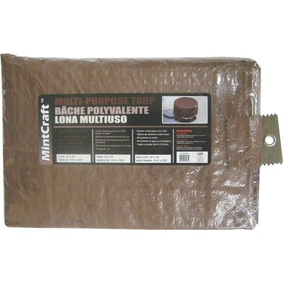 8 x 10 Medium Duty Tarp Color: Brown