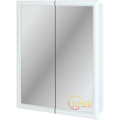 24 x 30 Surface Mount Medicine Cabinet Finish: White