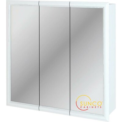 30 x 30 Surface Mount Medicine Cabinet Finish: White