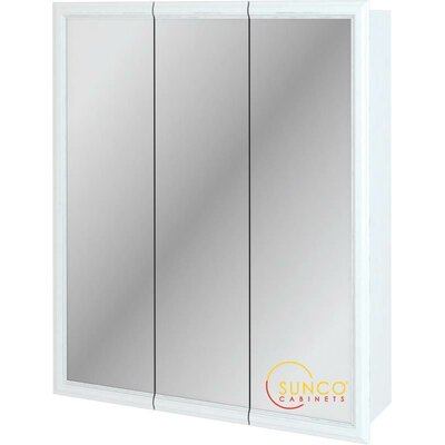 30 x 36 Surface Mount Medicine Cabinet Finish: White