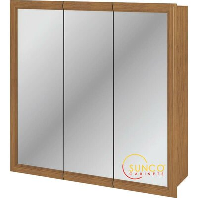 30 x 30 Surface Mount Medicine Cabinet Finish: Oak