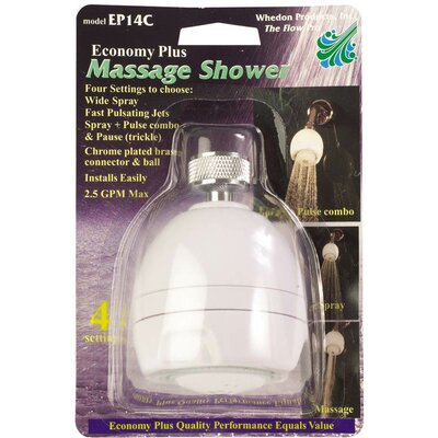Economy Massaging Shower Head