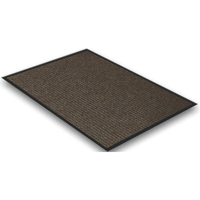 Doormat Color: Brown, Rug Size: 2 x 3