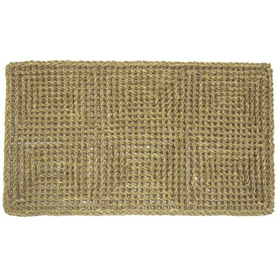 Burchette Seagrass Doormat Mat Size: Rectangle 1'10