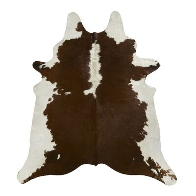 Brown/White Regular Area Rug Rug Size: 66 x 76