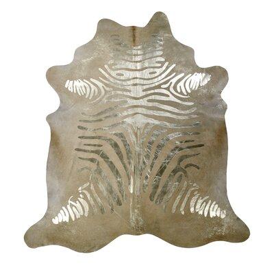 Devore Hand-Woven Gold/Beige Area Rug