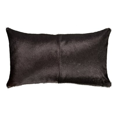 Double Sided Single Panel Lumbar Pillow Color: Black