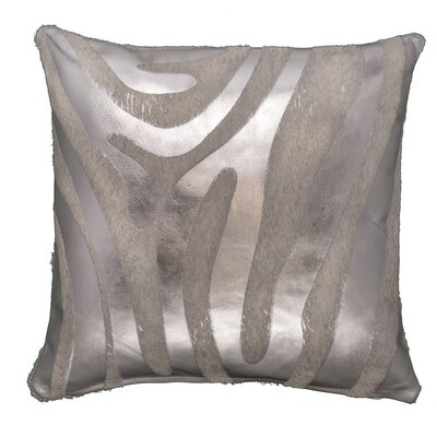 Zebra Devore Throw Pillow Size: 18 x 18