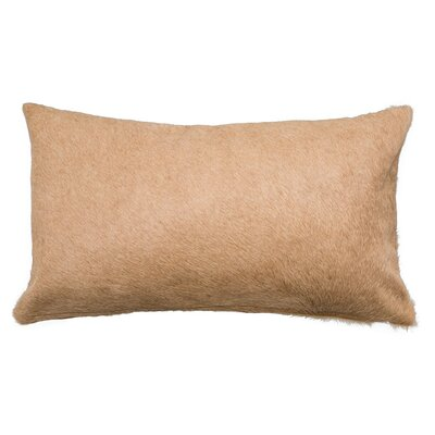 Double Sided Single Panel Lumbar Pillow Color: Light Beige