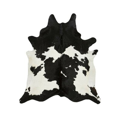 Special Cowhide Black/White Area Rug Rug Size: Rectangle 6 x 76