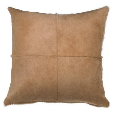 Double Sided 4 Panels Throw Pillow Color: Light Beige, Size: 22 x 22