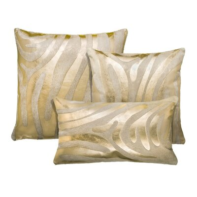 Zebra Devore 3 Piece Pillow Set
