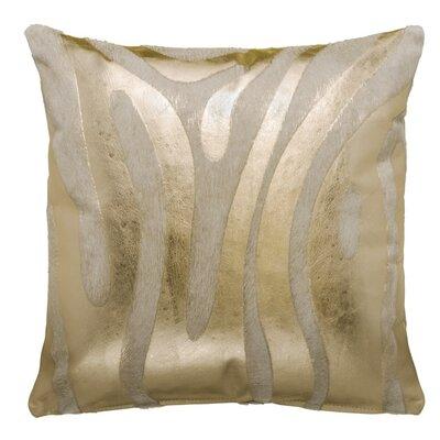 Zebra Devore Throw Pillow Size: 18 x 18