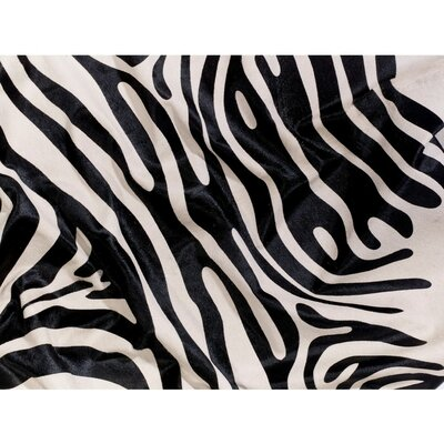 Zebra Cowhide Black/Off White Area Rug