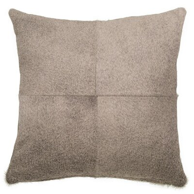 Double Sided Single Panel Throw Pillow Color: Gray, Size: 18 x 18