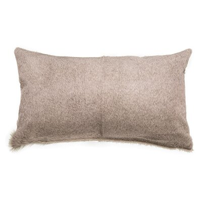 Double Sided 2 Panels Lumbar Pillow Color: Beige