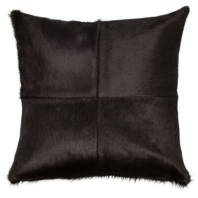 Double Sided 4 Panels Throw Pillow Color: Black, Size: 18 x 18