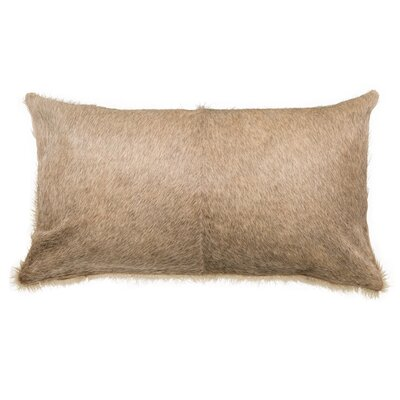 Double Sided Single Panel Lumbar Pillow Color: Tan